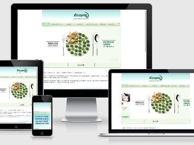 Ecopia site (using Wix, ReactJS)