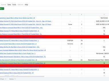 Woocommerce, google spreadsheet integration