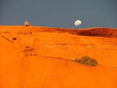Namibian Moon, Spitzkoppe, Namibia