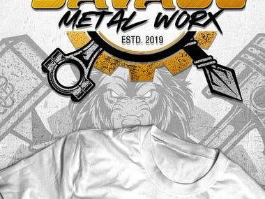 Logo Design Savage Metal Worx