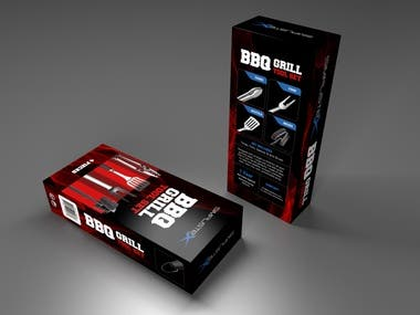 Packaging design for BBQ box