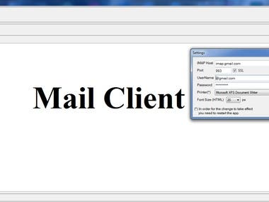 Mail Client Project