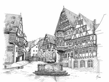 Illustrations hand drawn