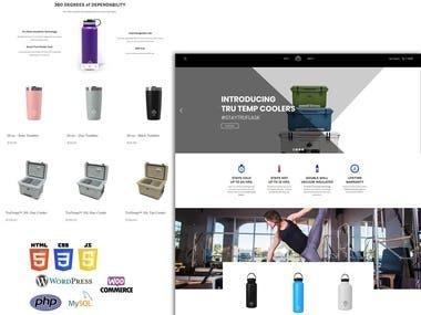 Wordpress Custom Website for Selling Designer Flasks