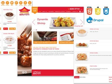 A food order and delivery e-commerce website