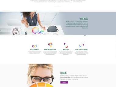 One pager web design