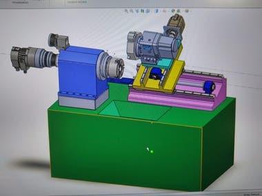 2 Axes CNC turning lathe