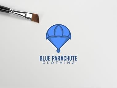 Blue Parachute Clothing Logo Design