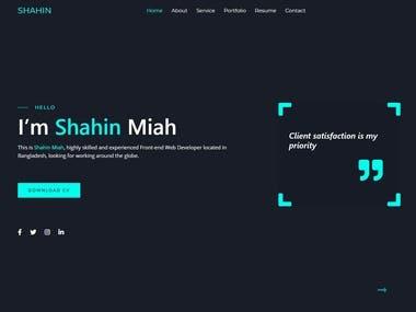 Personal Portfolio Home Page