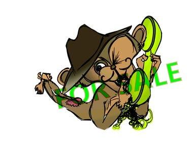 """Cartoon """"MonkeyGossip"""""""