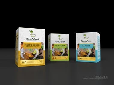 Tea packaging for Product Range