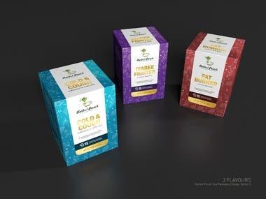 Tea packaging for Herbal Product Range