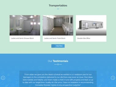 Website Design and development (Modular Homes Services)