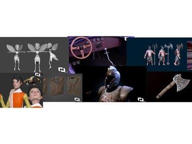 3D work collage