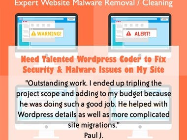 Expert Website Malware Removal / Cleaning