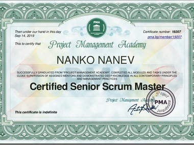 Certified Senior Scrum Master