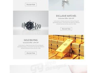 Precious Gold Jewelry Web Mockup