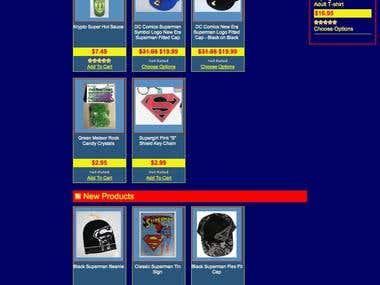 SupermanStuff.com Design / Code
