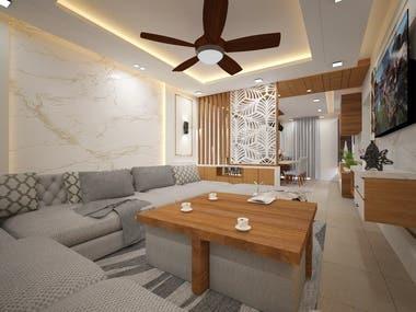 Interior for Residence in Mansarovar, Jaipur, Rajasthan