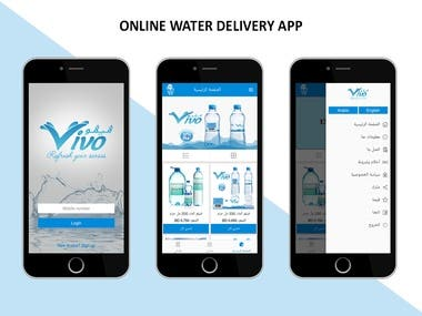 Online water delivery app