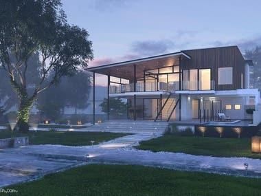 Design & 3D visualization of a cottage