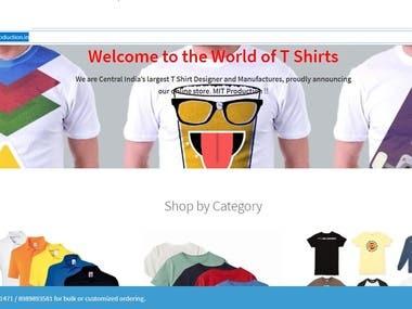 Online store for T Shirt Designer and Manufacturer