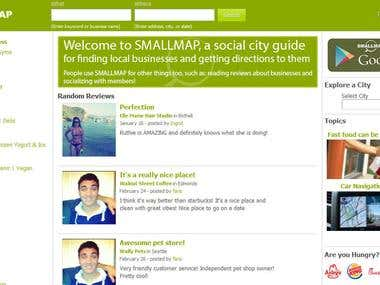 Smallmap is a social networking website