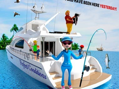 Ocean Fun Day illustration