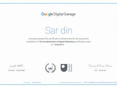 Certification Assessment Google