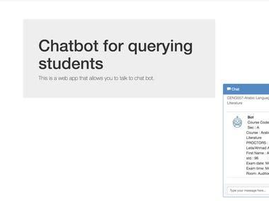 Chatbot for University