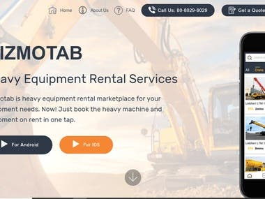 Gizmotab Heavy Equipment Rental Services