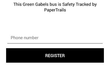 PaperTrails - School Bus Tracking Android App