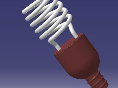 CFL BULB DESIGN IN CATIA V5
