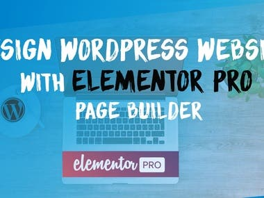 WordPress website with elementor pro page builder