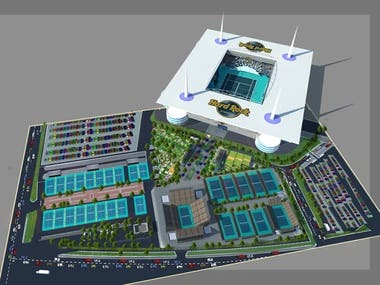 Architecture design for Hardrock Stadium