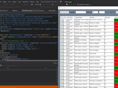 C# Scraping, WPF Project