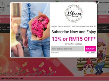 CMS: Bloom Delivery site in Malaysia