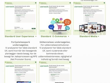 SaaS website survey widget