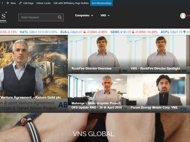 WordPress Site: Visual News Services