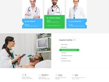 Medical center site using ASP and Blockchain.