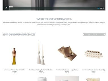 Shopify Site Building and customization using Supply theme