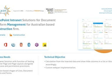 SharePoint Intranet Solution For Document Management