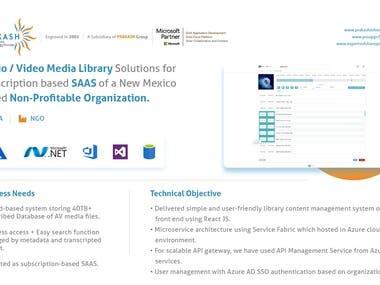 SaaS based Video Library