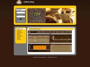 coffeshop application portfolio
