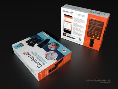 Packaging design for medical curing device - Knee & elbow