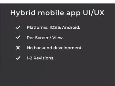 Hybrid Mobile App (UI/UX).