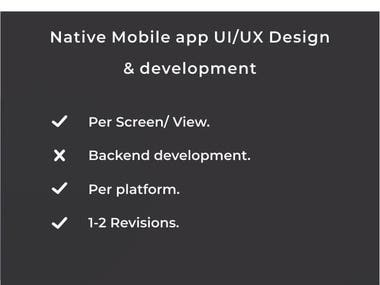 Native Mobile APP UI/UX Design.