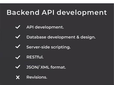 Back-end API development (RESTful).