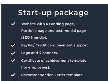 All-in-one Startup Package.