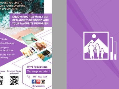 Flyer for photo printing company
